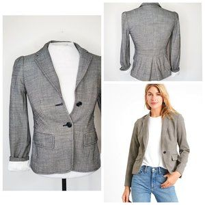 BANANA REPUBLIC Herringbone Puff Shoulder Blazer